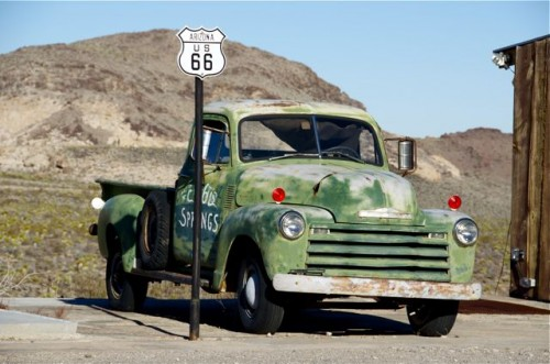 Old truck on Route 66