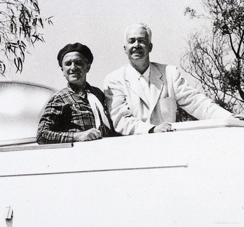 1952 Wally and Neil in the Commodore
